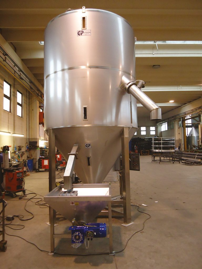 1400 L STAINLESS STEEL MIXER WITH  FORCED LOADING -