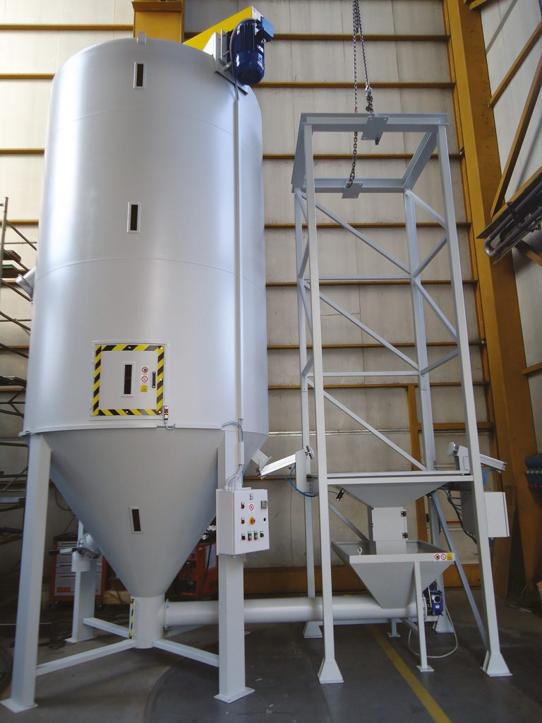 MIXER WITH FORCED LOADING AND BIG-BAG EMPTYNG  -