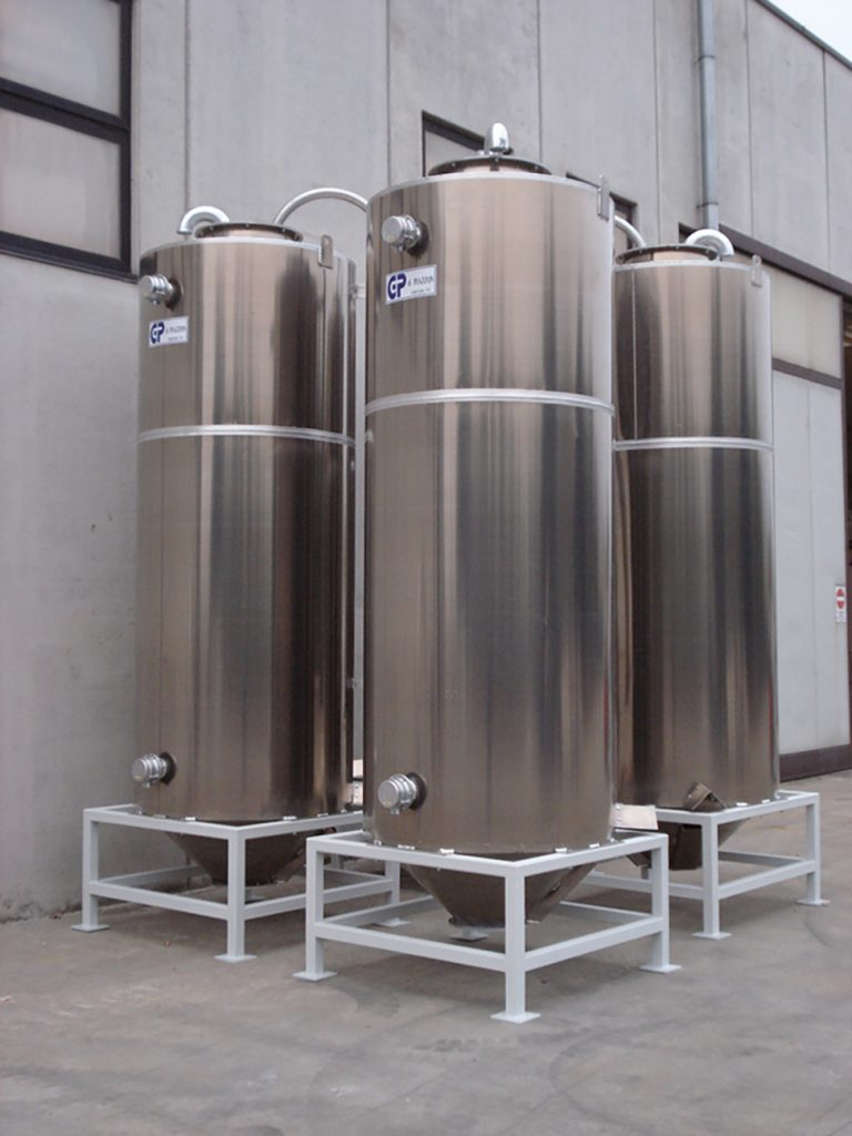 SMALL 5 M³ OUTDOOR ALUMINIUM SILOS -